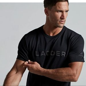 "Men's ""Ladder"" black on black t shirt"